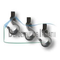 Carlig de ancorare tub, D = 20 mm - EMY;