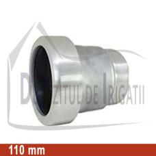 """Adaptor pompa aluminiu aripa de ploaie, 110 x 4"""" Fe, mama (fara clesti) - EMY;"""