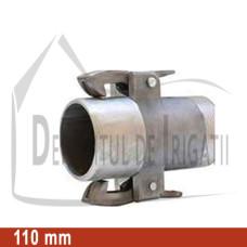 "Adaptor pompa aluminiu aripa de ploaie, 110 x 4"" Fe, tata (cu clesti) - EMY;"