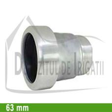 """Adaptor pompa aluminiu aripa de ploaie, 63 x 2"""" Fe, mama (fara clesti) - EMY;"""