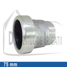 """Adaptor pompa aluminiu aripa de ploaie, 75 x 2 1/2"""" Fe, mama (fara clesti) - EMY;"""