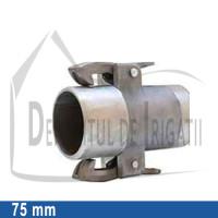 "Adaptor pompa aluminiu aripa de ploaie, 75 x 2 1/2"" Fe, tata (cu clesti) - EMY;"