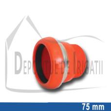 "Adaptor pompa plastic aripa de ploaie, 75 x 2 1/2"" Fe, mama (fara clesti);"