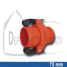 "Adaptor pompa plastic aripa de ploaie, 75 x 2 1/2"" Fe, tata (cu clesti);"