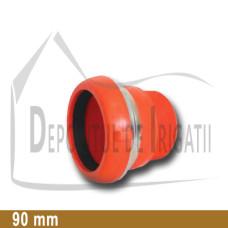 "Adaptor pompa plastic aripa de ploaie, 90 x 3"" Fe, mama (fara clesti);"