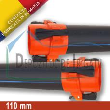 Conducta aripa de ploaie, tata - tata (cu clesti), D = 110mm, L = 0.5m, PN4 - DDI;