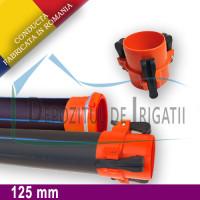 Conducta irigatii cu prindere rapida, D = 125mm, L = 6m, PN4 - DDI;