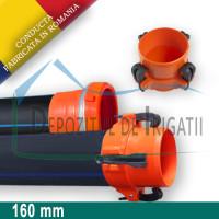 Conducta irigatii cu prindere rapida, D = 160mm, L = 6m, PN4 - DDI;