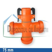Cruce egala aripa de ploaie, D = 75mm;