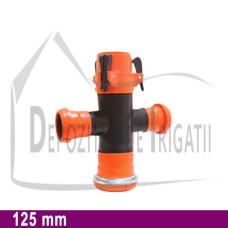 Cruce redusa aripa de ploaie, D = 125 x 75mm;