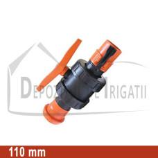 Robinet cu bila aripa de ploaie, D = 110mm;