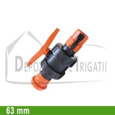 Robinet cu bila aripa de ploaie, D = 63mm;