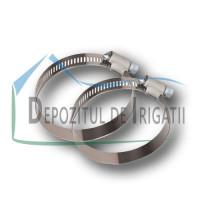Colier galvanizat 12mm, DIN 3017, 60-80 mm - NFX;