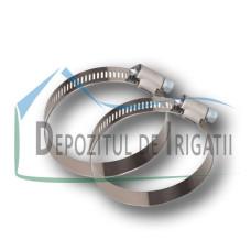 Colier galvanizat 12mm, DIN 3017, 70-90 mm - NFX;