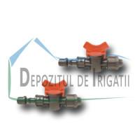 Robinet banda picurare, D = 17 mm cu colier de fixare (dubla strangere + garnitura) - PLP;