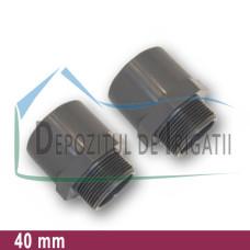 "Adaptor PVC 40 x 1 1/4"" (lipire/Fe) - PLP;"