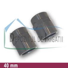 """Adaptor PVC 40 x 1 1/4"""" (lipire/Fi)- PLP;"""
