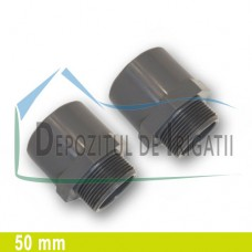 "Adaptor PVC 50 x 1 1/4"" (lipire/Fe) - PLP;"