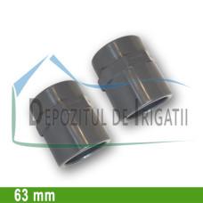 """Adaptor PVC 63 x 2"""" (lipire/Fi)- PLP;"""