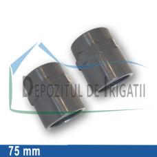 """Adaptor PVC 75 x 2 1/2."""" (lipire/Fi)- PLP;"""