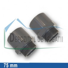 "Adaptor PVC 75 x 90 x 2 1/2"" (lipire/Fe) - PLP;"