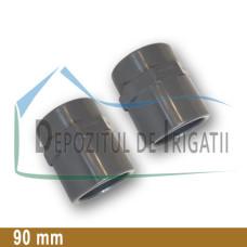 """Adaptor PVC 90 x 3"""" (lipire/Fi)- PLP;"""