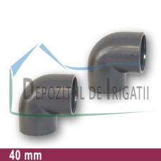 Cot PVC 40 x 40 mm (lipire) - PLP;