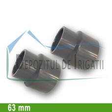 Reductie PVC 63 x 50 mm (lipire) - PLP;