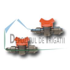 Robinet tub picurare, D = 16 mm cu colier de fixare (dubla strangere + garnitura) - PLP;